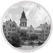 St. Edward's University Old Main I I Round Beach Towel