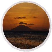 St Eustatius Round Beach Towel