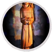 St. Francis Of Assisi By George Wood Round Beach Towel