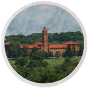 St. Gabriel's From Valley Forge Round Beach Towel