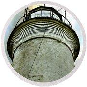 St. George Island Lighthouse 2 Round Beach Towel