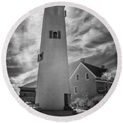 St. George Island Lighthouse Round Beach Towel