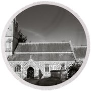 St Georges Church Preshute Round Beach Towel