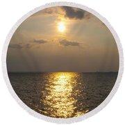 St George's Island Sunset Round Beach Towel