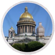 St Isaacs Cathedral Round Beach Towel