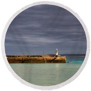 St Ives In Cornwall Round Beach Towel
