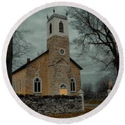 St. James Anglican Church Round Beach Towel