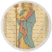 St James The Great Round Beach Towel