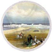 St. Jean D'acre April 24th 1839 Round Beach Towel