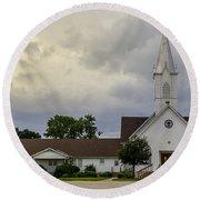 St John Lutheran Church Of Prairie Hill Round Beach Towel