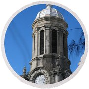 St Johns Cathedral Antigua Round Beach Towel