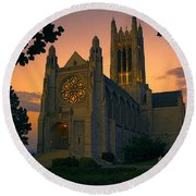 St Johns Cathedral - Spokane Round Beach Towel