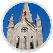 St. John's Church Cesis Round Beach Towel
