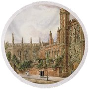 St. Johns College, Cambridge, 1843 Round Beach Towel