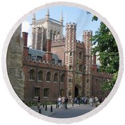 St. Johns College Cambridge Round Beach Towel