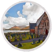 St  Johns Episcopal Ballachulish Round Beach Towel