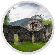 St. John's Episcopal Church Ruins  Harpers Ferry Wv Round Beach Towel