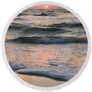 St Joseph Pastels Round Beach Towel by Adam Jewell