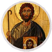 St. Jude The Apostle Round Beach Towel