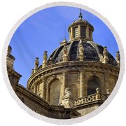 St Justo And Pastor Church Round Beach Towel