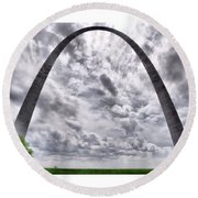 St Louis Arch Round Beach Towel