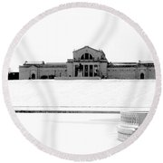 St Louis Art Museum And Art Hill Round Beach Towel