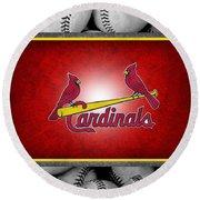 St Louis Cardinals Round Beach Towel