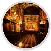 St. Louis Cathedral New Orleans - Textured Round Beach Towel