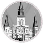 St Louis Cathedral Poster 1 Round Beach Towel