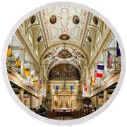 St. Louis Cathedral Round Beach Towel