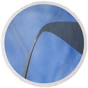St. Louis - Gateway Arch 7 Round Beach Towel