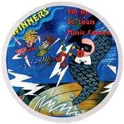St Louis Music Contest Winners Round Beach Towel