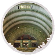 Ornate St. Louis Station Round Beach Towel
