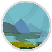 St. Lucia - W. Indies II Round Beach Towel