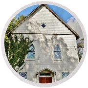 St. Luke African Methodist Episcopal Church - Ellicott City Maryland Round Beach Towel