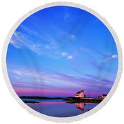 St. Lukes Anglican Church, Newtown Round Beach Towel