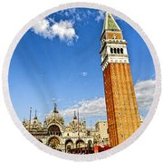 St Marks Square - Venice Italy Round Beach Towel