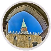 St Marks Tower - Venice Italy Round Beach Towel