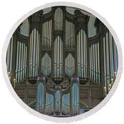 St Martins In The Field Organ Round Beach Towel