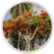 St. Mary's By The Sea Round Beach Towel