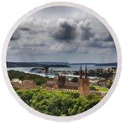 St Mary's Cathedral - Sydney Australia V2 Round Beach Towel