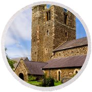 St Mary's Church Conway Round Beach Towel
