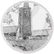 St Marys Church Tenby Round Beach Towel