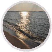 St Marys County Sunrise Round Beach Towel