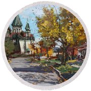 St. Marys Ukrainian Catholic Church Round Beach Towel