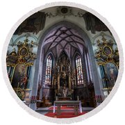 St. Maurice Church - Appenzell - Switzerland Round Beach Towel