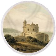 St Mawes Castle Round Beach Towel