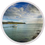 St Mawes Ferry Duchess Of Cornwall Round Beach Towel