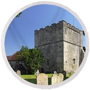 St Michael's Church - Shalfleet Round Beach Towel