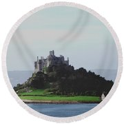 St Michael's Mount From The East Round Beach Towel
